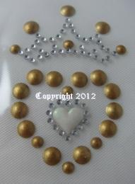 Herz mit Krönchen Gold 0801687-01da