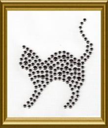 Hübsches Kätzchen Studs Black Diamond 170420