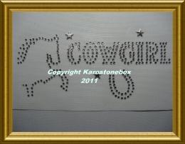Hotfix Strass Westernreiten Cowgirl 101220