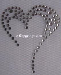 Hotfix Bügelbilder Strass süßes kleines Herz 110816