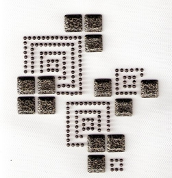 Bügelbild Ornament Braun/Naturstein  082346-01
