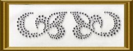 2 hübsche Strass Ornamente 100405-14sf