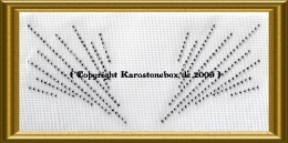 Hotfix Bügelbild Strass Ornament Abstrakt 2 100829