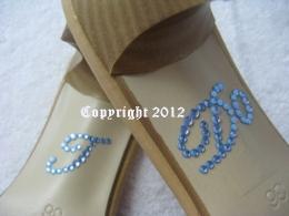 Strass-Sticker  I Do  für Pumps Brautschuhe Hochzeit