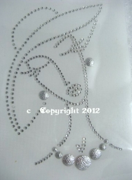 Hotfix Strass Bügelbild Frau  Silber/Crystal 121101