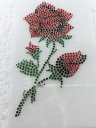 Hotfix Strass Bügelbild traumhafte Rose 130720
