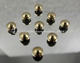 50 Hotfix Nieten Bügelnieten Gold 5 mm rund