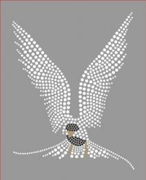 Bügelbild Strass Vogel Eule Crystal Black Diamond 190327