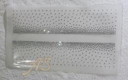 Hotfix Bügelbild Strass - Band - Doppelborte Ranken Crystal 190718