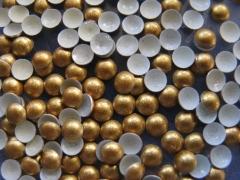 720   Halbperlen Glitter GOLD 3 mm