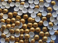 720   Halbperlen Glitter GOLD 4 mm