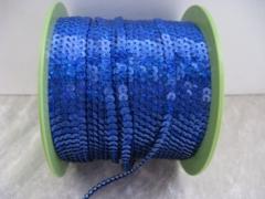 5 Meter   Holgram Paillettenband 4 mm Blau