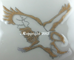 Traumhafter Strass Adler Gold Chrystal  150608