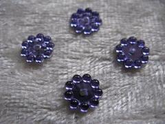 30 Acryl Steine Rund Flieder 8 mm