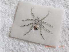 Hotfix Bügelbild Kleine Strass Spinne Spider   090511-35sc