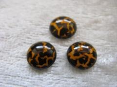 Safari Steine rund zum aufbügeln Gold