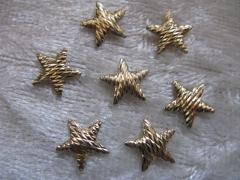 50   Sterne geriffelt 8mm Gold