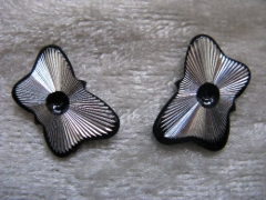 10   Formen Schmetterling Schwarz/Silber
