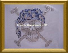 Hotfix Strass Totenkopf 110205 Farbwahl klein