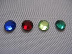 50 Acryl Strasssteine rund 6 mm Emerald