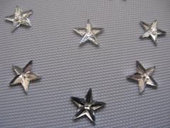 50 Acryl Sterne Crystal 6mm