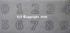 Bügelmotive Strass Zahlen 0-9