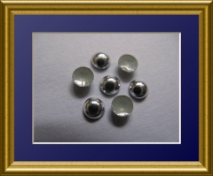 720   Dome Studs Silber Hochglanz 2mm