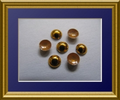 720 Dome Studs Gold Hochlanz 2 mm