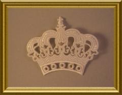 Applikation gestickte Krone Weiß aufbügeln aufnähen