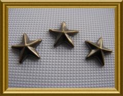50   Nieten Stern 8mm Antik Bronze