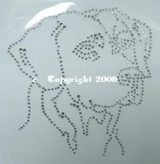 Bügelbild Strass Hund Labrador Kopf  121119