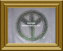 Strass Bügelbild Peace Zeichen 110419
