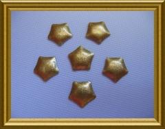 25   Metall Formen Sonderformen Pentagon Glitter Gold 8mm