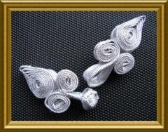 chinesische Posamenten Posamentenverschluss Silber