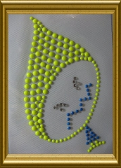 Bügelbild reflektierendes Kindermotiv Bub böse  20102628
