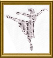 Bügelbild Strass Ballerina rosa 101017