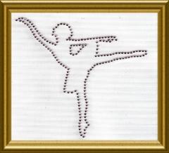 Bügelbild Strass Ballerina 3 Farbwahl 101018 Crystal