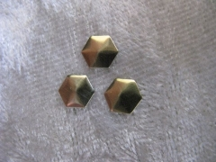 100   Formen Hexagon Gold 6 mm