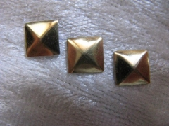 100   Formen Quadrat 5 mm Gold