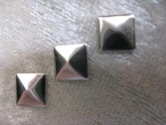 100   Formen Quadrat 7 mm Silber