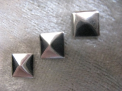 100   Formen Quadrat Silber 5 mm