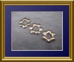 100   Metall Formen Blüte Gold
