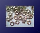 100   Metall Formen Blüte Pearl irisierend