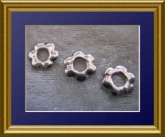 100   Metall Formen Blüte Silber