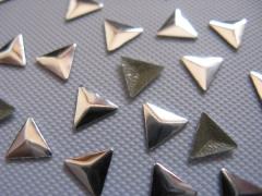100    Metall Formen Dreieck 6 mm Silber