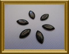100   Metall Formen Oval Schwarz Glitter