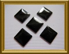 100   Metall Formen Quadrat Schwarz 7x7 mm
