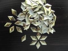 100   Metall Formen Raute 6x10 mm Gold
