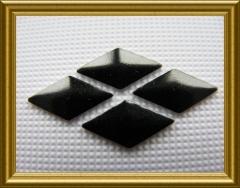 100   Metall Formen Raute Schwarz 10 x 6mm
