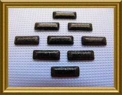 100   Metall Formen Rechteck Schwarz-Glitter